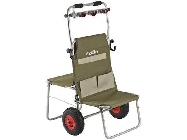 Eckla Multi-Rolly mit Pannensicheren Rädern 260mm mit Multi-Halte-Leiste olivegreen